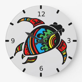 Custom Abstract Sea Turtle Wall Clock