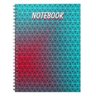 Custom Abstract Turquoise to Pink NoteBook