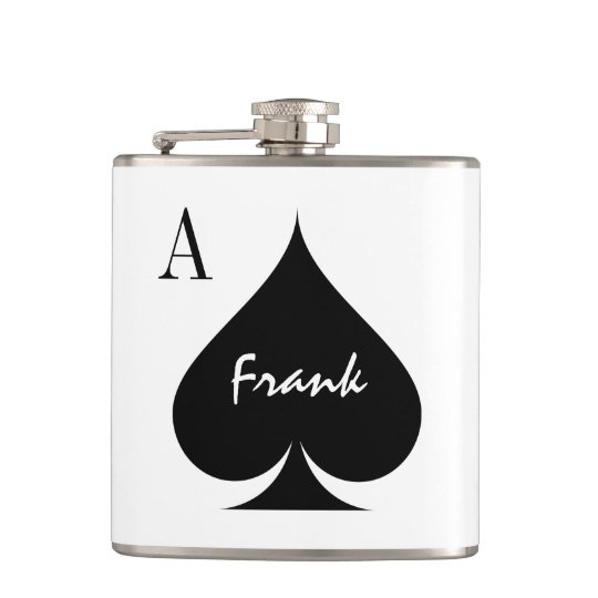 Custom Ace of spades playing card suit drink