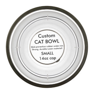 Custom Acrylic Cat Bowl - Small 14oz