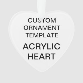 Custom Acrylic HEART Christmas Ornament Template