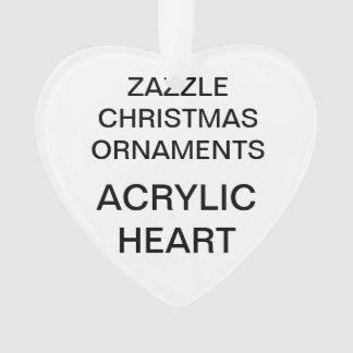 Custom Acrylic HEART Christmas Tree Ornament