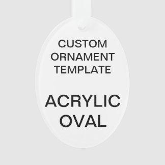 Custom Acrylic OVAL Christmas Ornament Template