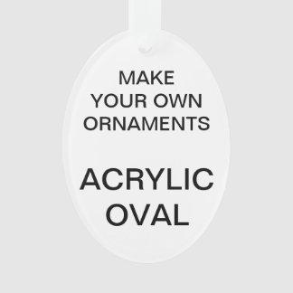 Custom Acrylic OVAL Christmas Tree Ornament