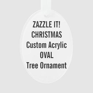 Custom Acrylic OVAL Christmas Tree Ornament Blank