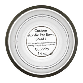 Custom Acrylic Pet Bowl - Small 14oz