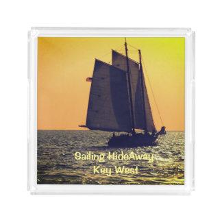 Custom Acrylic Sailing HideAway Serving Tray