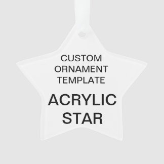 Custom Acrylic STAR Christmas Tree Ornament