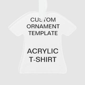 Custom Acrylic T-SHIRT Christmas Ornament Template