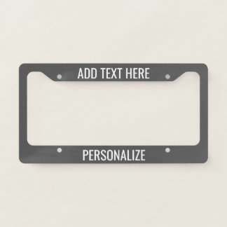 Custom Add 2 Lines Text & Change Background Colour Licence Plate Frame