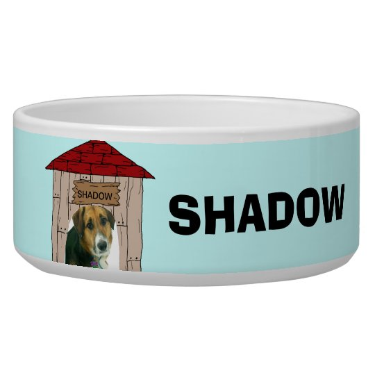 Custom Add Pet Photo and Name Dog Dish Pet Bowl
