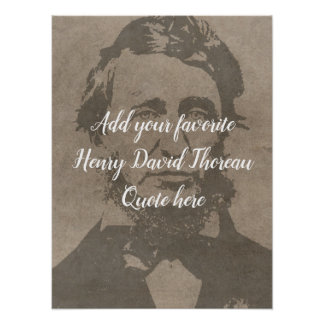 Custom Add your Henry David Thoreau Quote Poster