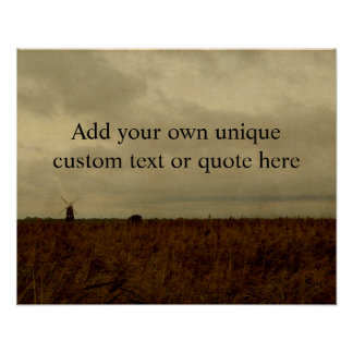 Custom 'Add your own text/quote' English Landscape Poster