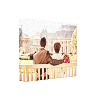 Custom add your own wedding photo couple anniversa stretched canvas prints