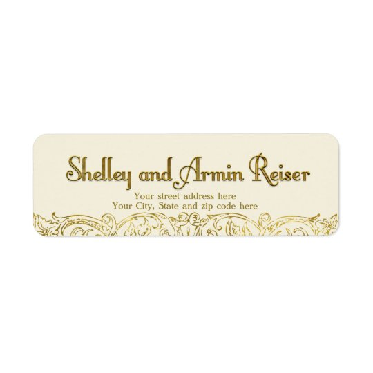 Custom address label Shelley