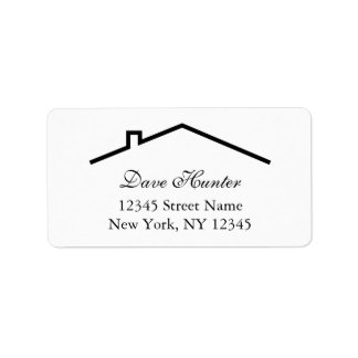 Custom address labels with roof logo