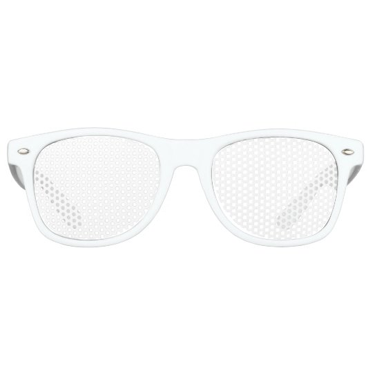 Adult Retro Party Shades, White