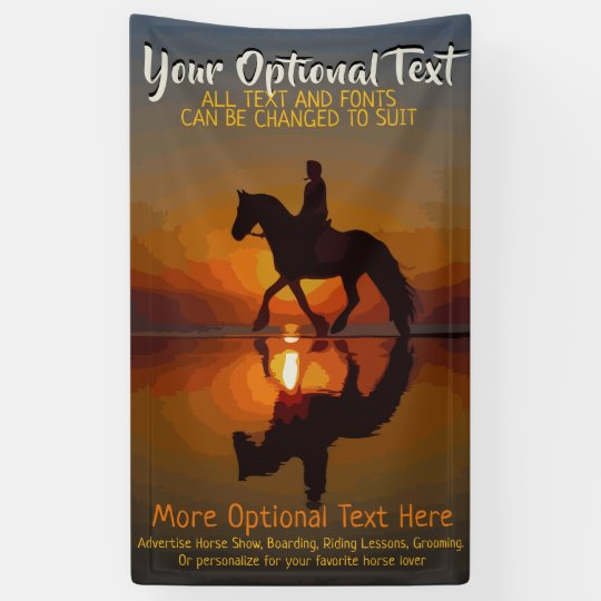 Custom Advertising Horse Show, Horse Riding Banner