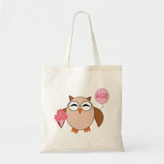 Custom Age Birthday Owl Bag