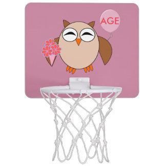 Custom Age Birthday Owl Basketball Hoop