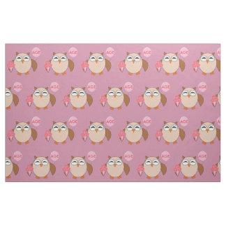 Custom Age Birthday Owl Craft Fabric