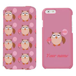 Custom Age Birthday Owl iPhone Case Incipio Watson™ iPhone 6 Wallet Case