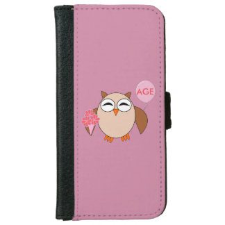 Custom Age Birthday Owl iPhone Wallet Case