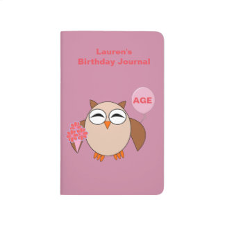 Custom Age Birthday Owl Journal