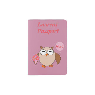 Custom Age Birthday Owl Passport Holder
