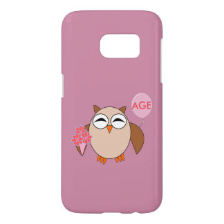 Custom Age Birthday Owl Samsung Case