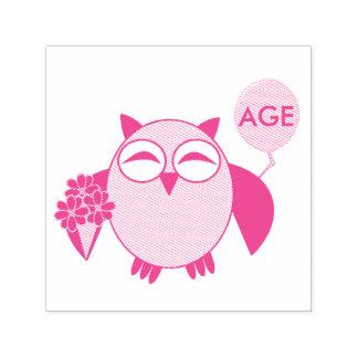 Custom Age Birthday Owl Self Inking Stamp