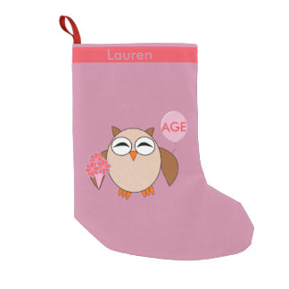Custom Age Birthday Owl Stocking