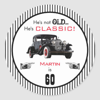 Custom Age Not Old But Classic Car Funny Birthday