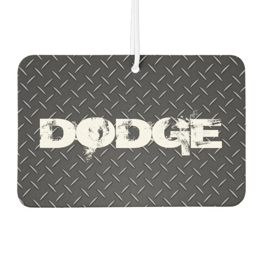 Custom Air Freshener - Diamond Plate Dodge Black