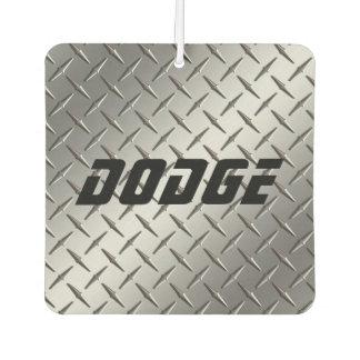 Custom Air Freshener - Stamped Steel DODGE Grey