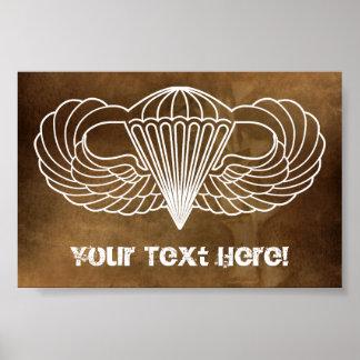 Custom Airborne Poster