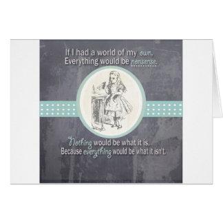 Custom Alice in Wonderland Gifts Greeting Card