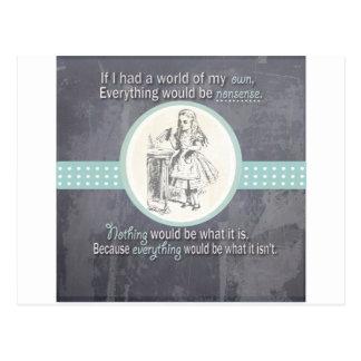 Custom Alice in Wonderland Gifts Postcard