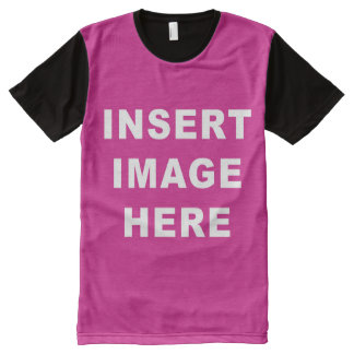Custom All Over Print Shirt Template Make Your Own All-Over Print T-Shirt