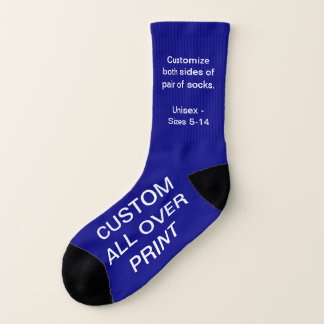 CUSTOM ALL OVER PRINT SMALL NAVY SOCKS 1