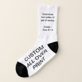 CUSTOM ALL OVER PRINT SMALL WHITE SOCKS 1