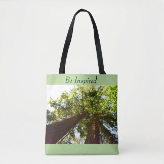 Custom All-Over-Print Tote Bag Be Inspired