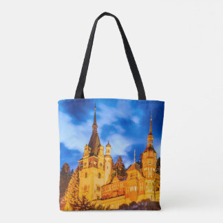 Custom All-Over-Print Tote Bag Peles castle Sinaia