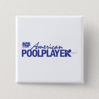 Custom American Pool Player - Blue 15 Cm Square Badge