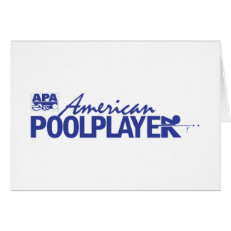 Custom American Pool Player - Blue Greeting Card