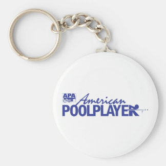 Custom American Pool Player - Blue Key Ring