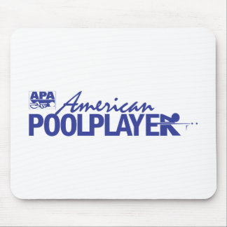 Custom American Pool Player - Blue Mouse Pad