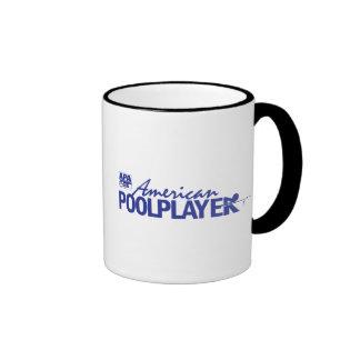 Custom American Pool Player - Blue Coffee Mugs