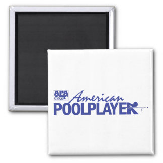 Custom American Pool Player - Blue Square Magnet