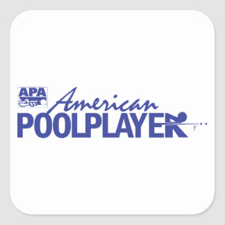 Custom American Pool Player - Blue Square Sticker